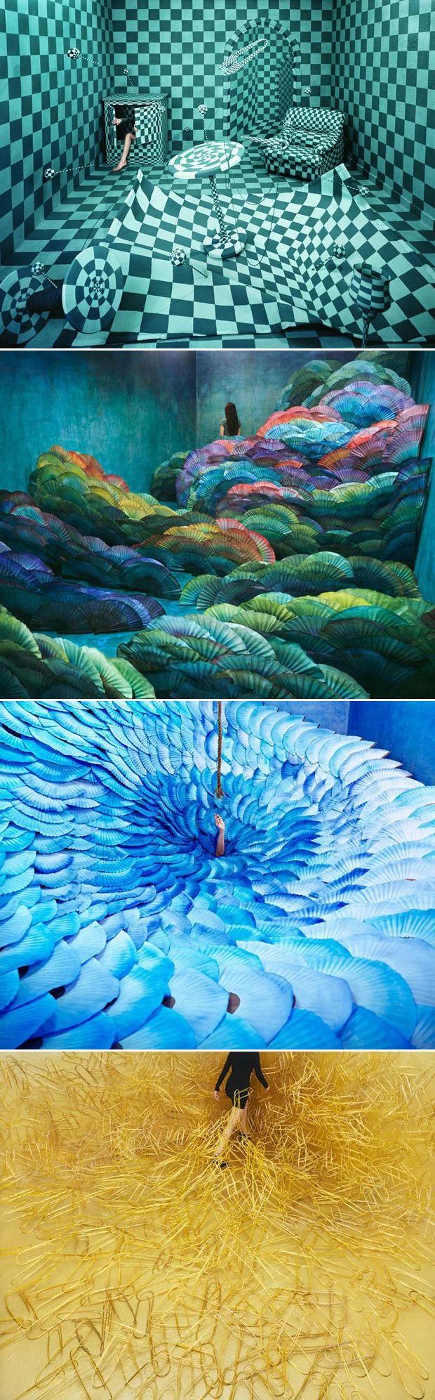 A artista coreana Jee Young Lee faz tudo sozinha, em um estúdio minúsculo localizado em Seul, com cerca de inacreditáveis 12 m2 -, que se transforma a cada cenário de sonhos. Depois que a paisagem está pronta, ela faz auto-retratos, se posicionando em meio às suas criações. As ideias sempre têm origem em sua identidade psicológica, em contos de fada coreanos ou em histórias marcantes de sua vida pessoal, que depois viram arte em suas mãos.