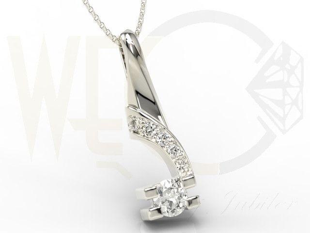 Wisiorek z białego złota z diamentami/ Pendant made from white gold with a diamonds / 1455 PLN #gold #pendant #fashion #jewellery #jewelry #mother_day