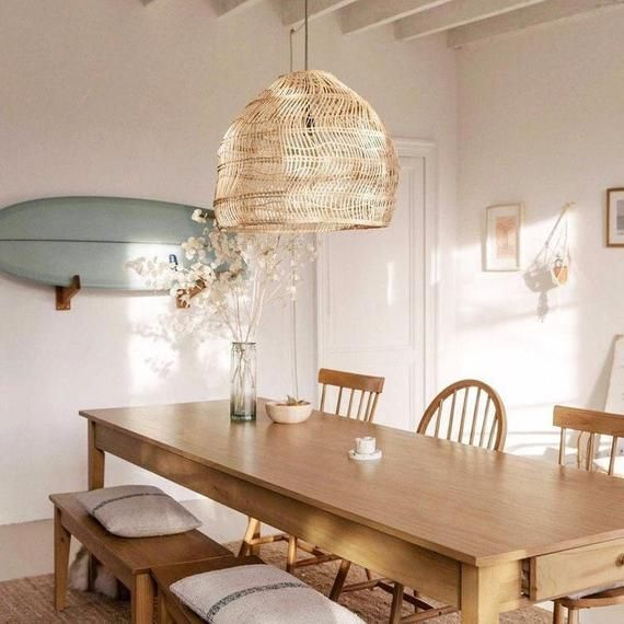 Anka Natural Rattan Pendant Light Dining Room Remodel Dining