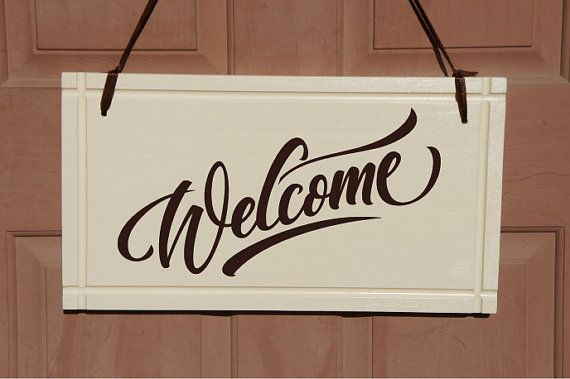 Large WELCOME sign for home or business. Handmade ...