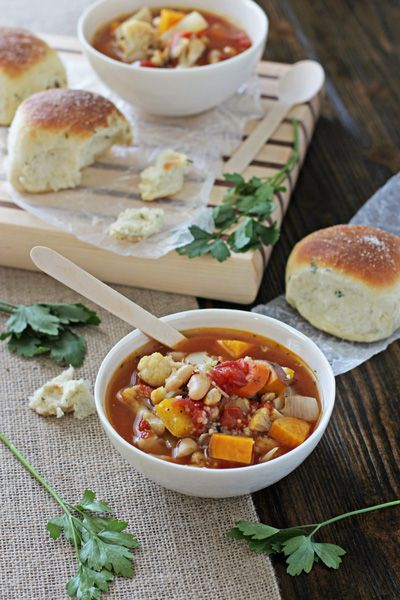 Recipe For Roasted Vegetable Soup With Couscous And Beans A Simple Healthy Meal Made