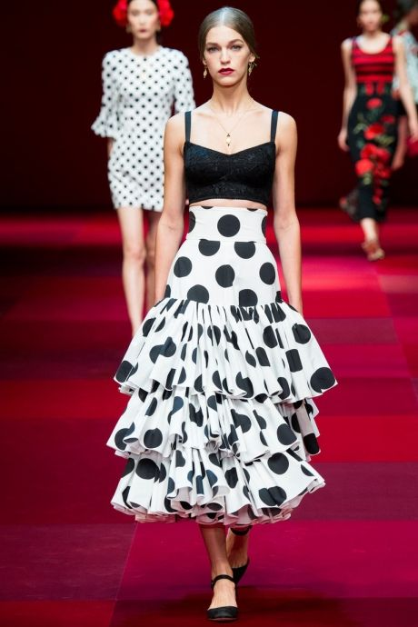 Clothing with polka dots fashion trend for summer 2015