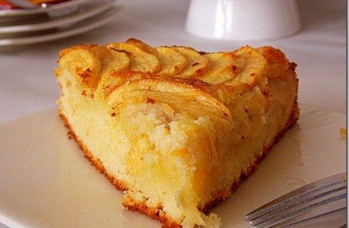 Bonjour tout le monde ! Un gâteau aux pommes auquel je n'ai pu résister, quand j'ai vu les photos...