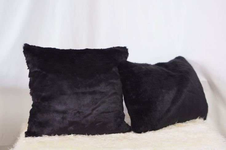 Talah Black Faux Fur Cushion - Pin for Inspo!