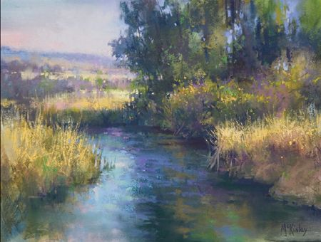 Late Afternoon Color (pastel, 12×16) by Richard McKinley #pastel #fineart #painting