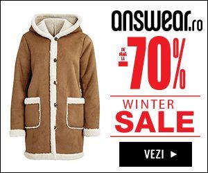 Campania Winter Sales cu reduceri de pana la 70% este live pe answear.ro/iar pana pe 10.01.2017 profitam si de LIVRARE