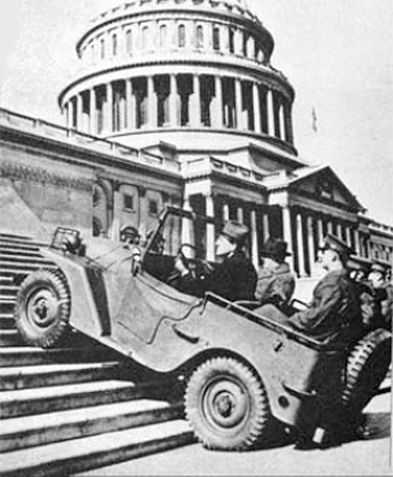 """11 Jul 40: The US Army approaches 135 American automotive manufacturers to submit designs to replace its existing, aging light motor vehicles. Two companies will enter and the Jeep will emerge. A total of 669,703 Jeeps will be produced during the war. General Eisenhower said simply that """"America could not have won World War II without it."""" More: http://scanningwwii.com/a?d=0711&s=400711 #WWII ~"""