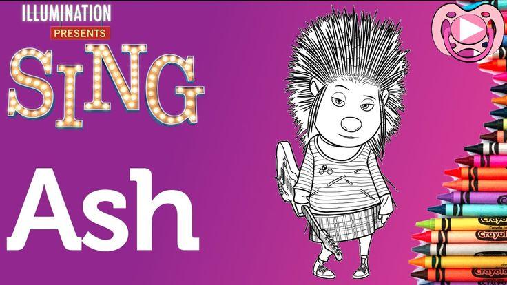 Personagens do filme Sing ️ Colorir a Ash