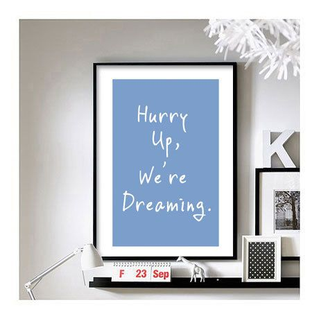 M83 Hurry up We're dreaming A3 Art Print by BrixtonCreative, $21.00
