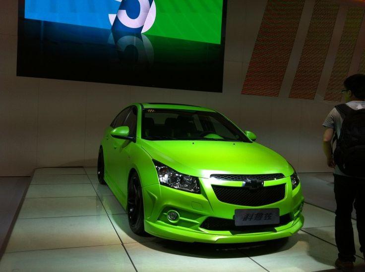 Green Car Cruze Lime Green Pinterest Cars Green