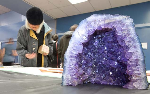 This Brazilian amethyst was among the treasures at a rock and gem show last weekend at the South Delta Recreation Centre.
