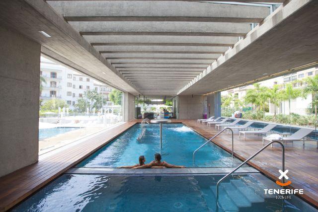 webtenerife.com Spa Hotel Mencey, Santa Cruz, Tenerife, Islas Canarias. Piscina interior, diseño minimalista. // Canary Islands. Interior pool, minimalism design. // Teneriffa, Kanarische Inseln. Innen-Pool, minimalistisches Design