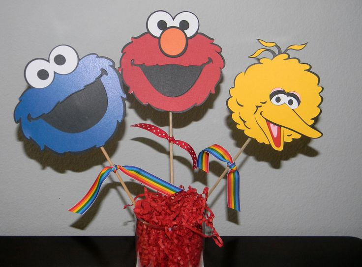 Centerpieces  Sesame Street Characters Picks  by YourPartyShoppe, $9.00