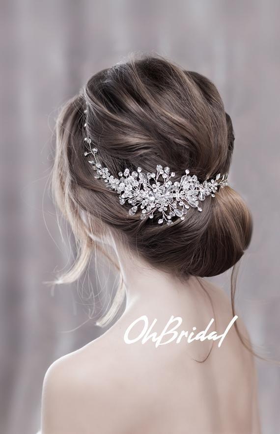 Wedding Headpiece Wedding Hair Piece Bridal Hair Pieces Etsy In 2020 Headpiece Wedding Bridal Hair Clip Wedding Hair Clips