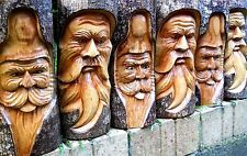 Резные деревянные зеленый человек полный ствол дерева, пенек, бревно 30 см статуя крытый Открытый