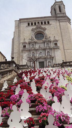 Girona Temps de Flors 2014 Spring Flower Festival, Catalonia