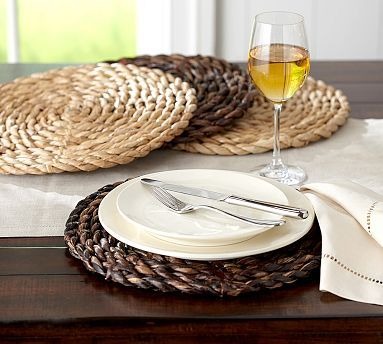 Chunky Woven Round Charger #potterybarn