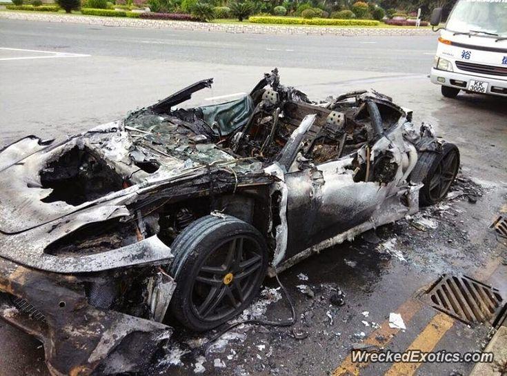 Ferrari F430 Crashed In Hong Kong, China