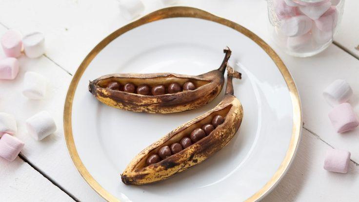 Grillatut banaaniveneet