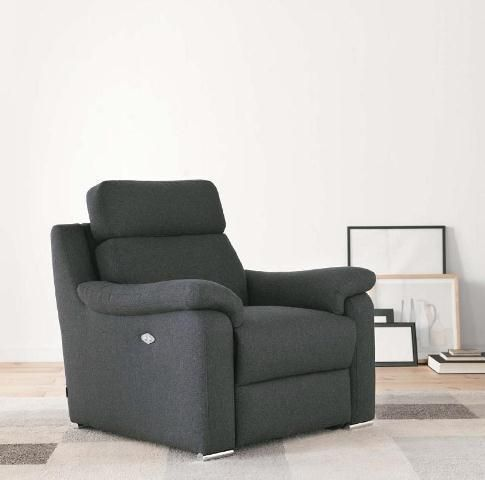 Butaca con asiento reclinable en negro