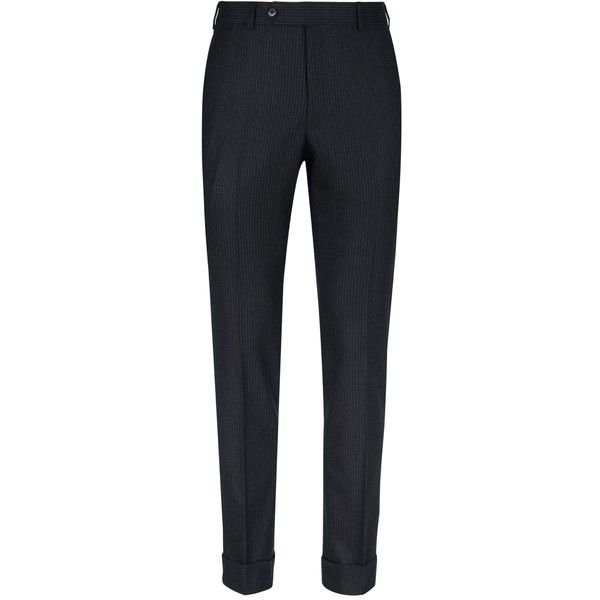 Kaushal Niraula Escorial Suit Trousers ($695) ❤ liked on Polyvore featuring men's fashion, men's clothing, men's pants, men's dress pants, mens wool pants, mens wool dress pants, old navy mens pants, mens navy dress pants and mens navy blue dress pants