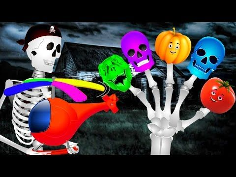 youtube video Skeleton Dinosaur And Vegetables Finger Family | Kids Nursery Rhymes | Funny Colors Skeleton Rhymes thumbnail