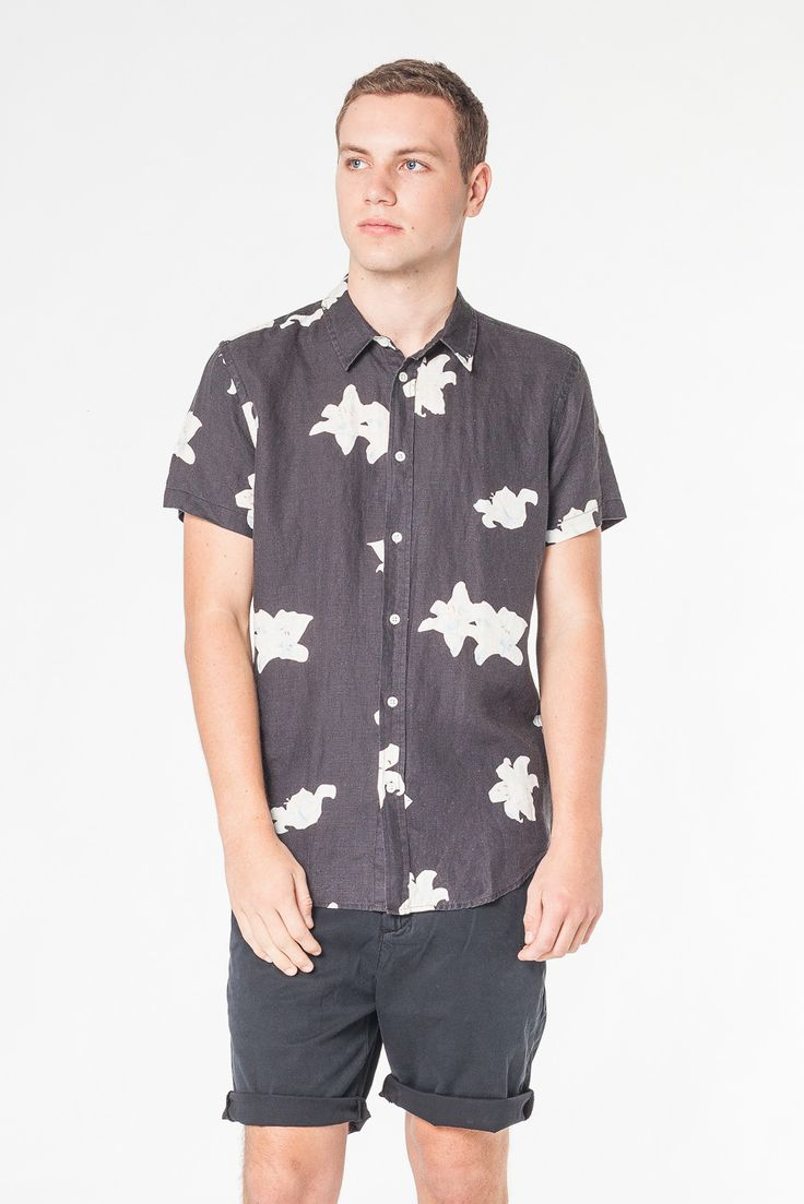 LILY SHORT SLEEVE SHIRT NAVY - SHOP MENS Assembly Label
