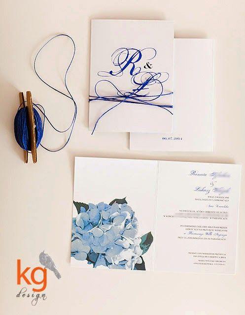 hortensja, niebieski, błękitny, wiązane sznurkiem,