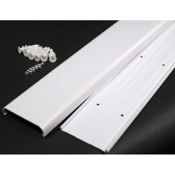 Features:  -Includes wall anchors and screw.  -Flat screen TV cord cover.  -Ideal for hiding cables used for wall mounted flat screen TV's.  -Hides and organizes cords and cables.  -Predrilled for eas