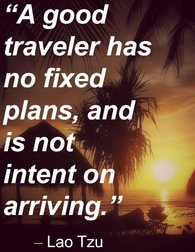 Travel without plans and no destination