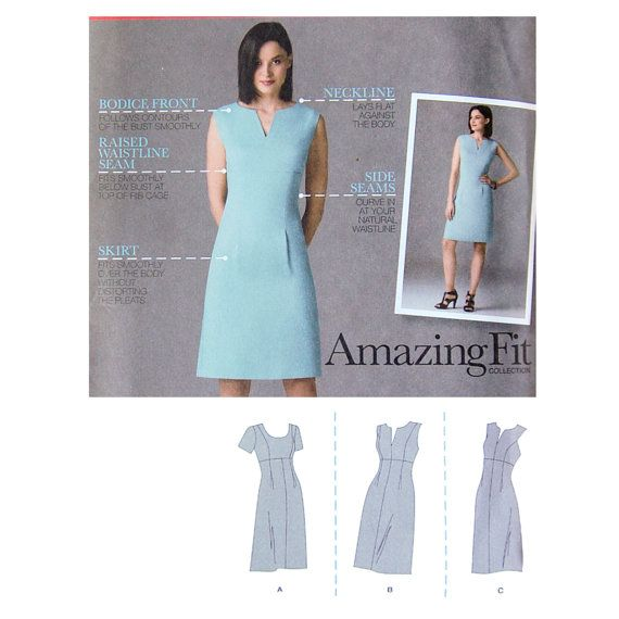 Modern Women S Dress Sewing Pattern Simplicity 2404 Size 16 18 20 22 24 Bust 38