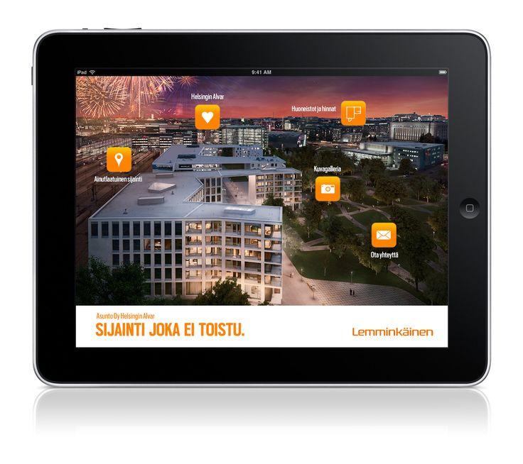 LEMMINKÄINEN B2C: 'Sijainti joka ei toistu' | Asunto Oy Helsingin Alvar -kohteen monikanavakampanja. Toiminnallinen iPad-mainos.  #SamiTossavainen #Mainostoimisto #Markkinointitoimisto #B2C #Mainos #Digitaalinenmarkkinointi