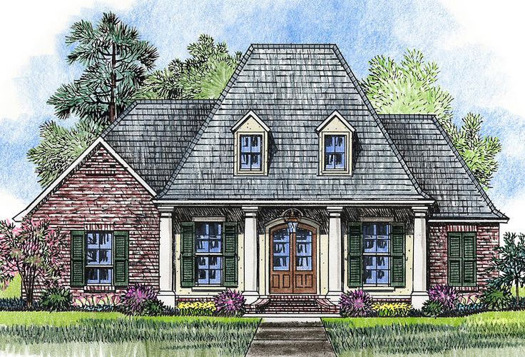 Homey And Appealing Acadian House Plan - 56371SM | Acadian, European, French Country, Southern, 1st Floor Master Suite, Butler Walk-in Pantry, PDF, Corner Lot | Architectural Designs