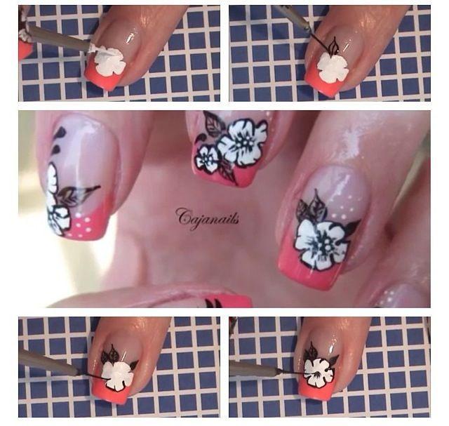 19 Diseños de Uñas de Flores - Paso a Paso #decoracion_unas #diseno_unas #unas_decoradas #nails #nail_art #nail_art_designs