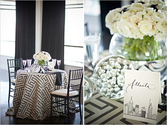 Elegant Black U0026 White Wedding Ideas