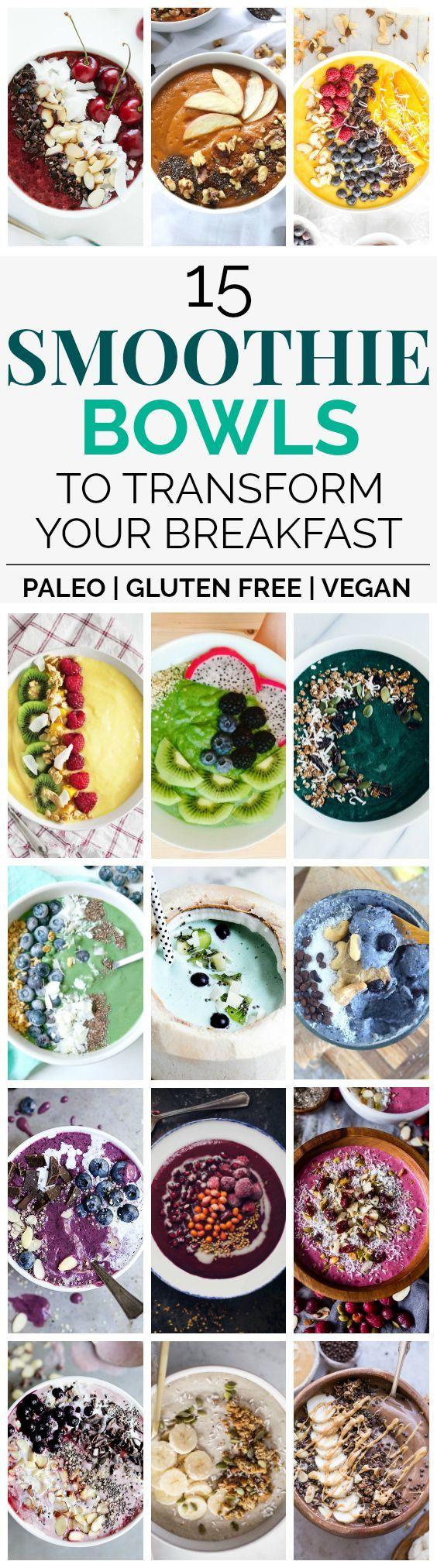 15 Paleo & Vegan Smoothie Bowl Recipes