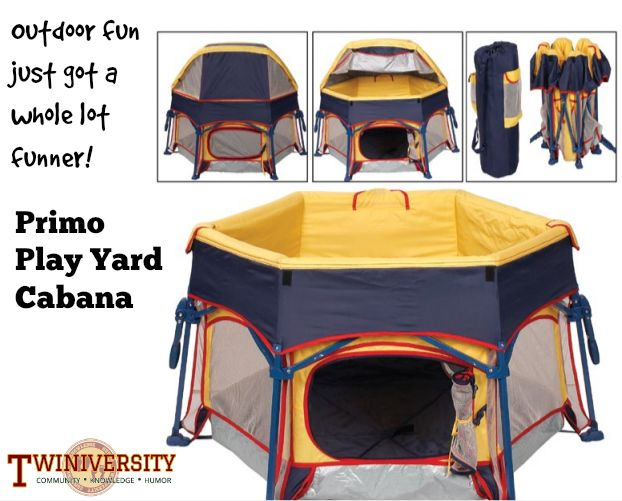 Sleep and play anywhere! Perfect for indoor or outdoor use for up to 3 children! Learn more about this niffty outdoor play yard in the 2014 Baby Gear edition of Multiplicity!!