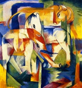 Elephant, Horse, Cattle - Franz Marc - The Athenaeum