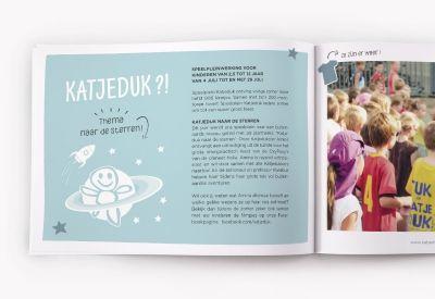 Avondster: ontwerp brochure speelpleinwerking Katjeduk Wevelgem - Avondster: lay-out brochure Katjeduk Wevelgem