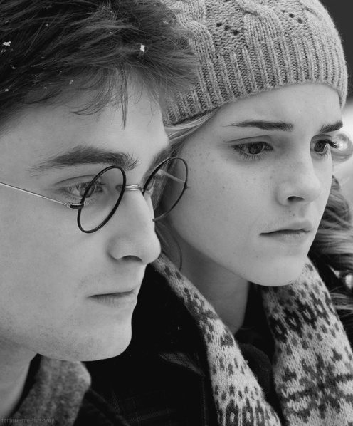 I love how J.K Rollings made us believe that Hermoine & Harry were going to fall in love  & bam Ron swoops in like the keeper he is and rains on everyone's parade.