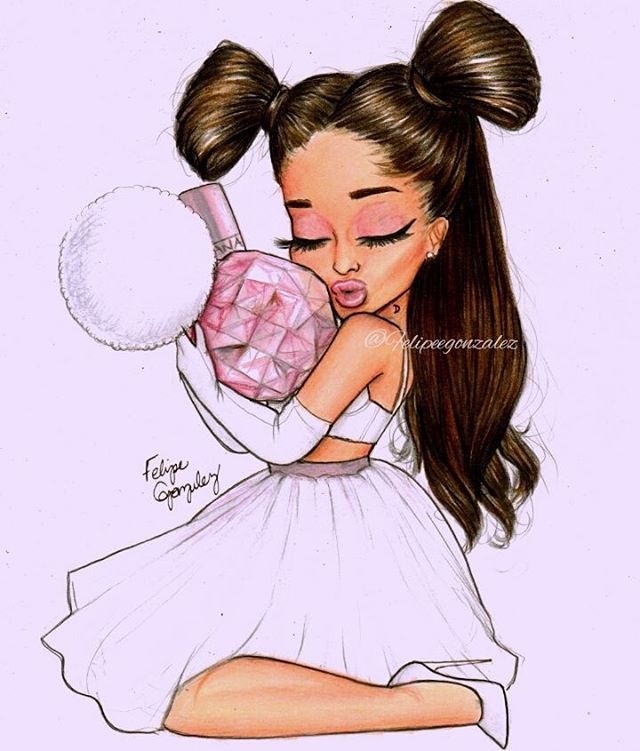 Im in love w my new drawing of @arianagrande pls make sure to repost and tag her so many times! Maybe she can notice this drawing of her✨ Im so fucking proud of this cartoon srsly  also follow my personal @felipegoca if u can