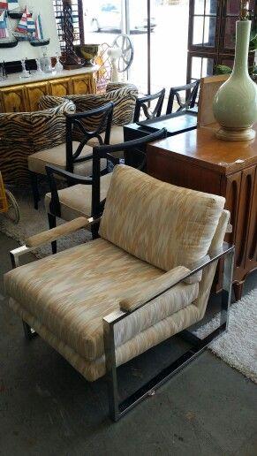Milo Baughman chrome chair at Jasper Kane