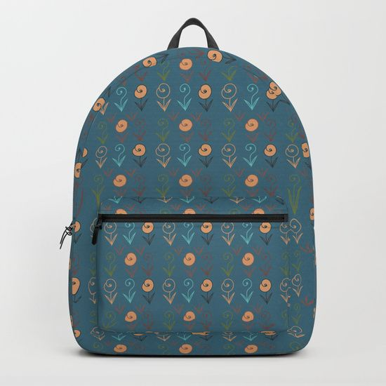 "Our Backpacks are crafted with spun poly fabric for durability and high print quality. Thoughtful details include double zipper enclosures, padded nylon back and bottom, interior laptop pocket (fits up to 15""), adjustable shoulder straps and front pocket for accessories. Dry clean or spot clean only. One unisex size: 17.75""(H) x 12.25""(W) x 5.75""(D). Back to school backpack #society6 #backpack #loveschool #backtoschool #school #whimsical #flowers #floral #cute #pretty"