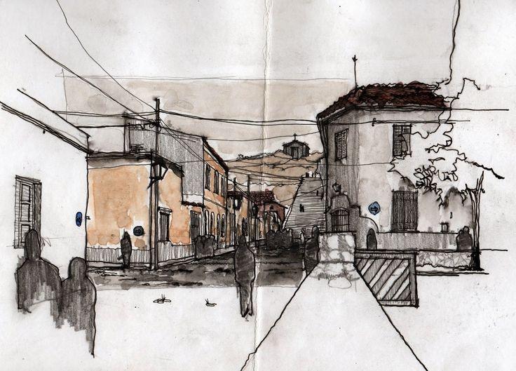 Paisaje del Norte Argentino #Watercolor #Drawing #croquis #Sketch Arquitectura NOA