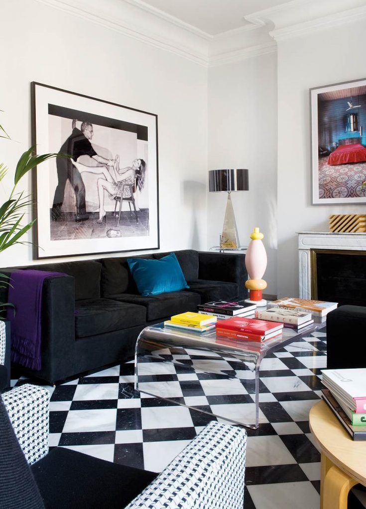 New apartment and in need of wall decor ideas? This small living room wall decor is eclectic and could work well for a modern space.