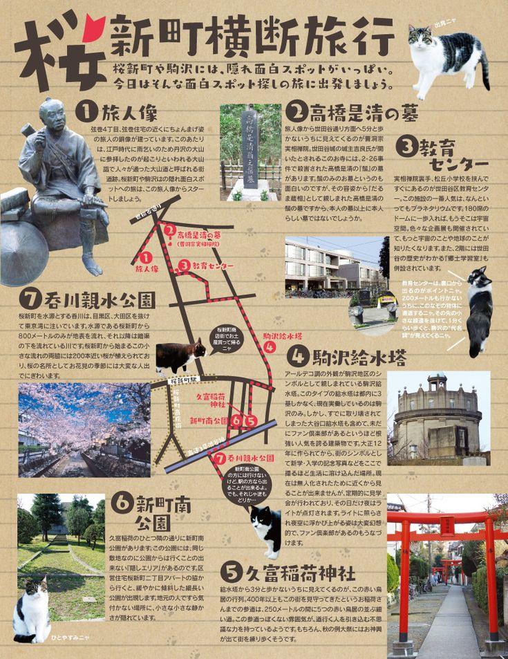 街とねこの本屋さん : イラストマップで東京散策