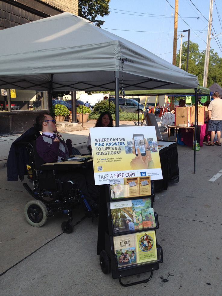 2nd day of jw.org website tract campaign ..me and my son at farmers market in Wisconsin