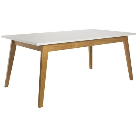 Frieda Dining Table 160x90cm  Oak/White