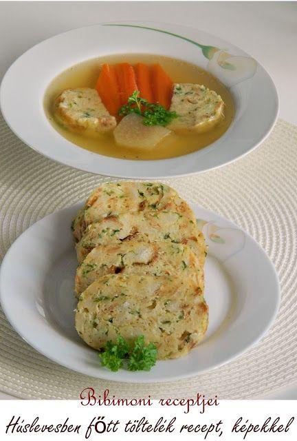 Húslevesben főtt töltelék recept, képekkel