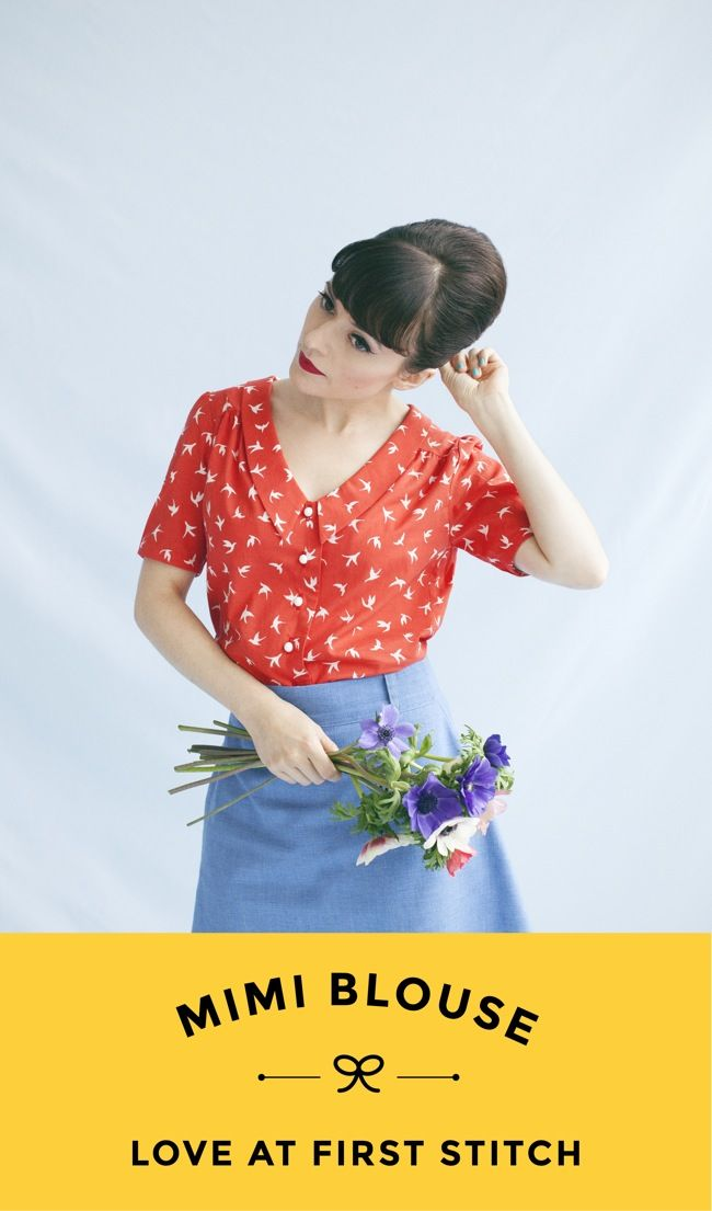 MIMI BLOUSE sewing pattern from Love at First Stitch